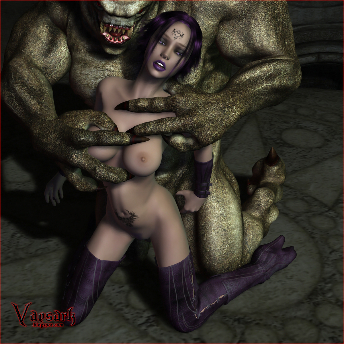 Woman and monster porn naked photo
