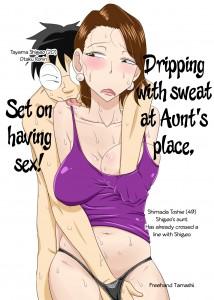 Freehand Tamashii Dripping With Sweat at Aunt's Place Set on Having Sex English Oba-san Taku de Asedaku de, Hitasura Sex ni Hagemu!